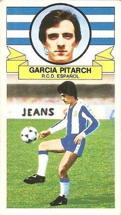Liga 85-86. García Pitarch (RCD Español)Fichaje Nº 8. Ediciones Este.