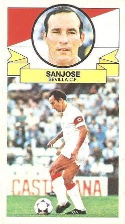 Liga 85-86. Sanjosé (Sevilla C.F.). Ediciones Este.