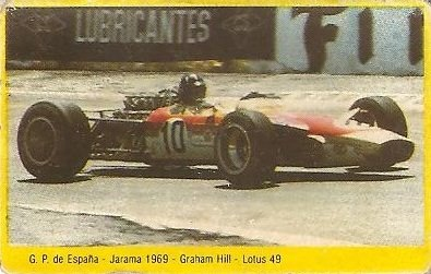 Grand Prix Ford 1982 . Graham Hill (Lotus). (Editorial Danone).