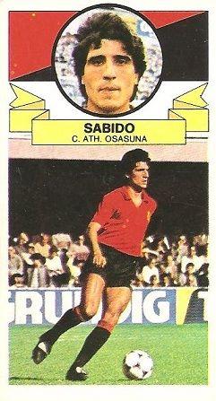 Liga 85-86. Fichaje Nº 23 Sabido (Club Atlético Osasuna). Ediciones Este.