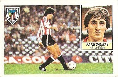Liga 84-85. Patxi Salinas (Ath. Bilbao). Ediciones Este.