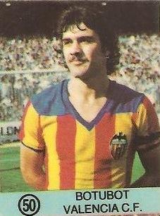 1983-84 Super Campeones. Botubot (Valencia C.F.). (Ediciones Gol)
