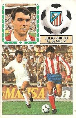 Liga 83-84. Julio Prieto (Atlético de Madrid). Ediciones Este.