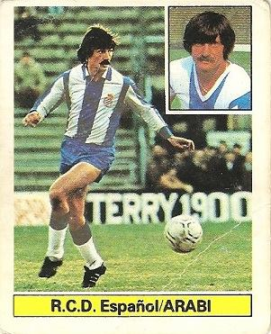 Liga 81-82. Arabi (R.C.D. Español). Ediciones Este.