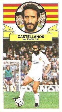 Liga 85-86. Castellanos (Valencia C.F.). Ediciones Este.