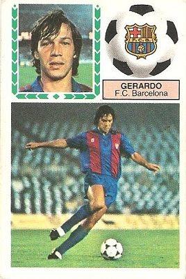 Liga 83-84. Gerardo (F.C. Barcelona). Ediciones Este.