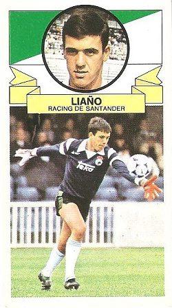 Liga 85-86. Liaño (Racing de Santander). Ediciones Este.
