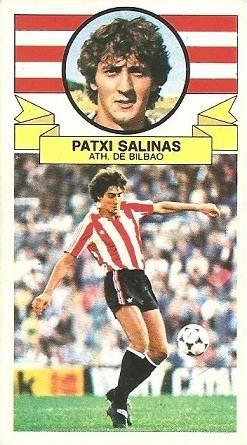 Liga 85-86. Patxi Salinas (Ath. Bilbao). Ediciones Este.