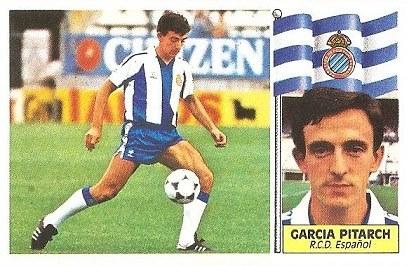Liga 86-87. García Pitarch (RCD Español. Ediciones Este.