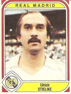 Liga 83-84. Stielike (Real Madrid). Ediciones Panini.