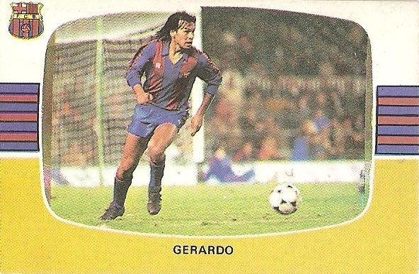 Liga 84-85. Gerardo (F.C. Barcelona). Cromos Cano.