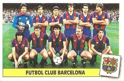 Liga 86-87. Alineación F.C. Barcelona ( F.C. Barcelona). Ediciones Este.