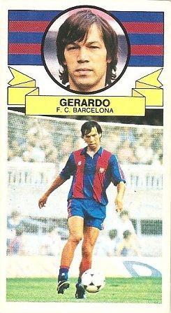 Liga 85-86. Gerardo (F.C. Barcelona). Ediciones Este.