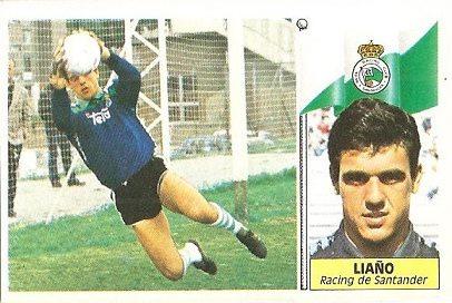 Liga 86-87. Liaño (Racing de Santander). Ediciones Este.