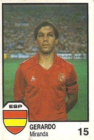 México 86. Gerardo (España) Cromos Barna.