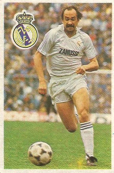Diego Armando Maradona. Sus driblings. Sus goles. Liga 84-85. Stielike (Real Madrid). Cromo Esport.