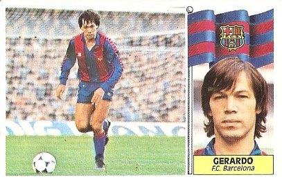 Liga 86-87. Gerardo (F.C. Barcelona). Ediciones Este.
