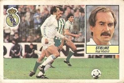 Liga 84-85. Stielike (Real Madrid). Ediciones Este.