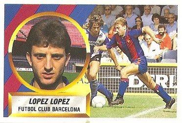 Liga 88-89. López López (F.C. Barcelona). Ediciones Este.