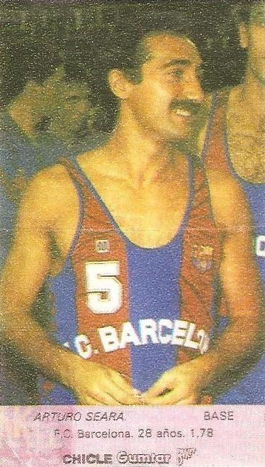Liga Baloncesto 1985-1986. Seara (F.C. Barcelona). Chicle Gumtar.