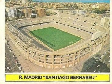 Liga 81-82. Estadio Santiago Bernabeu (Real Madrid). Ediciones Este.