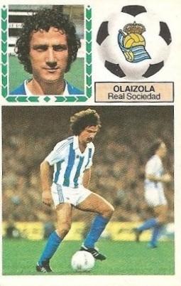 Liga 83-84. Olaizola (Real Sociedad). Ediciones Este.