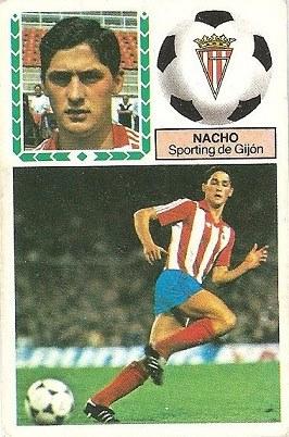 Liga 83-84. Nacho (Sporting de Gijón). Ediciones Este.