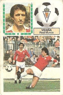 Liga 83-84. Vidaña (Real Murcia). Ediciones Este.