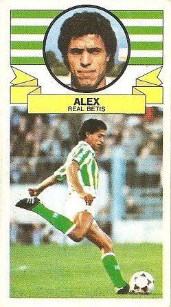 Liga 85-86. Alex (Real Betis). Ediciones Este.