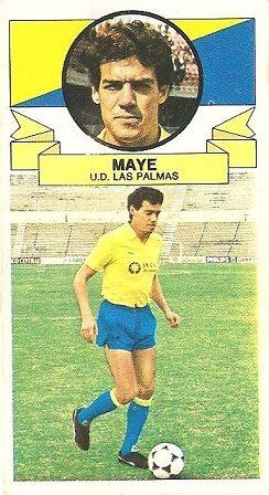 Liga 85-86. Maye (UD Las Palmas). Ediciones Este.
