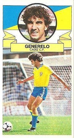 Liga 85-86. Generelo (Cádiz C.F.) Ediciones Este.
