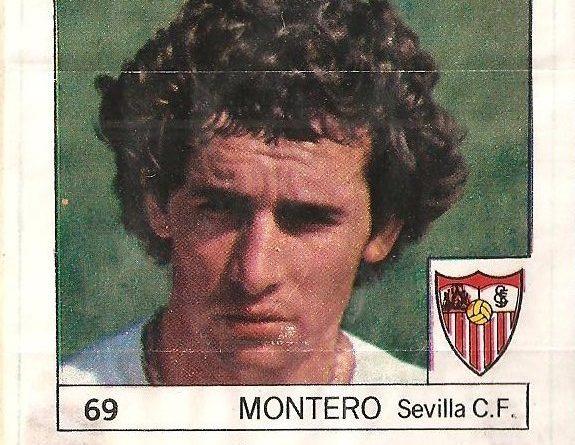 Super Cromos Los Mejores del Mundo (1981). Montero (Sevilla C.F.) Chicle Fútbol Boomer.