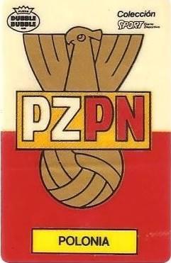 Mundial 1986. Escudo Polonia (Polonia). Ediciones Dubble Dubble.