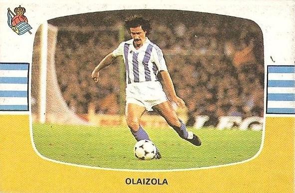 Liga 84-85. Olaizola (Real Sociedad). Cromos Cano.