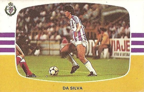 Liga 84-85. Da Silva (Real Valladolid). Cromos Cano.