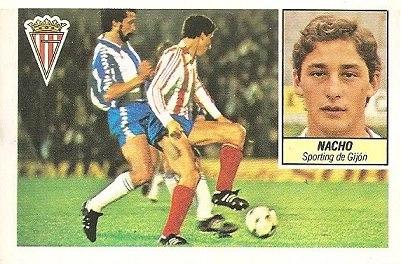 Liga 84-85. Nacho (Sporting de Gijón). Ediciones Este.