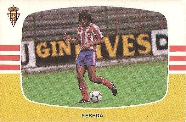 Liga 84-85. Pereda (Real Sporting de Gijón). Cromos Cano.