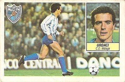 Liga 84-85. Urdaci (C.D. Málaga). Ediciones Este.