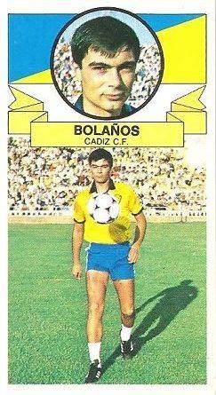 Liga 85-86. Bolaños (Cádiz C.F.) Ediciones Este.
