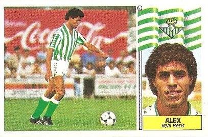 Liga 86-87. Alex (Real Betis). Ediciones Este.