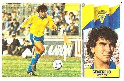 Liga 86-87. Generelo (Cádiz C.F.) Ediciones Este.
