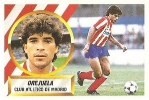 Liga 88-89. Orejuela (Atlético de Madrid). Ediciones Este.