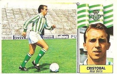 Liga 86-87. Cristobal (Real Betis). Ediciones Este.
