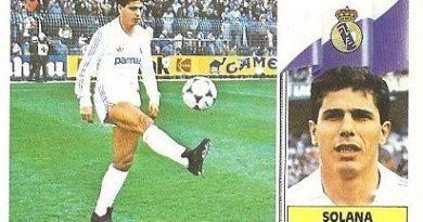 Liga 86-87. Solana (Real Madrid). Ediciones Este.