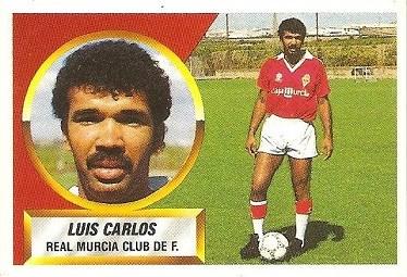 Liga 88-89. Luis Carlos (Real Murcia). Ediciones Este.