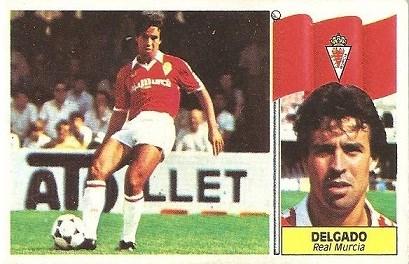 Liga 86-87. Delgado (Real Murcia). Ediciones Este.