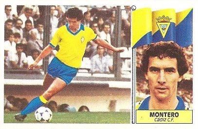 Liga 86-87. Montero (Cádiz C.F.) Ediciones Este.