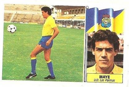 Liga 86-87. Maye (UD Las Palmas). Ediciones Este.