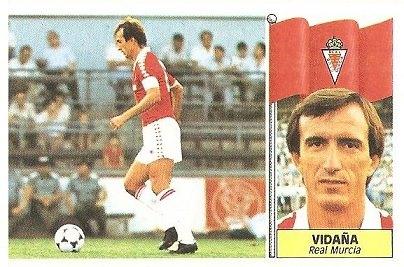 Liga 86-87. Vidaña (Real Murcia). Ediciones Este.