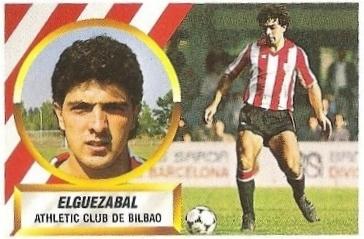 Liga 88-89. Elguezabal (Ath. Bilbao). Ediciones Este.